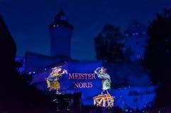 Nuremberg, Alemanha - morre Blaue Nacht 2012 Foto de Stock