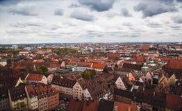 NUREMBERG, ALLEMAGNE - 26 AVRIL 2016 Vue au-dessus de Nuremberg de Th Photo stock