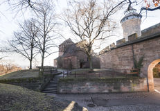 Nuremberg, Allemagne - 30 décembre 2016 : Extérieurs de Nuremberg C Images stock