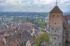 Nuremberg, Bavaria, Germany. Nuremberg panorama in Bavaria, Germany - oșd city wall and towers Stock Photos
