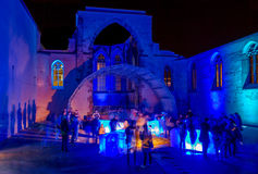 Nuremberg-Blaue Nacht (Blue Night) festival 2016 Stock Photos