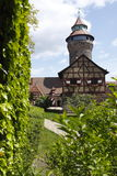 Nuremberg Castle. (German: Nürnberger Burg) is located on a sandstone rock in the north of the historical city of Nuremberg, Germany. It comprises three parts Royalty Free Stock Image
