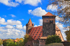 Nuremberg Castle with blue sky Stock Photo