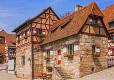 Nuremberg Castle historical buildings, Germany Royalty Free Stock Images