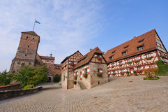 Nuremberg Castle (Kaiserburg) Royalty Free Stock Photo