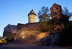 Nuremberg castle at night Royalty Free Stock Images