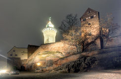 Nuremberg castle at a night Royalty Free Stock Photo