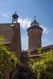 Nuremberg Castle and the Sinwell Tower, Germany, 2015 Stock Image