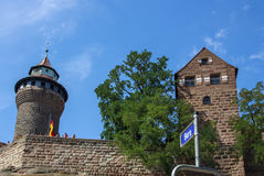 Nuremberg Castle and the Sinwell Tower, Germany, 2015 Stock Photography