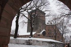 Nuremberg Castle in winter time. Bavaria, Germany. Stock Image