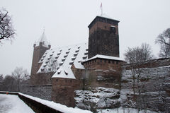 Nuremberg Castle in winter time. Bavaria, Germany. Royalty Free Stock Images