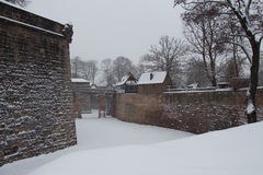 Nuremberg Castle in winter time. Bavaria, Germany. Royalty Free Stock Photo
