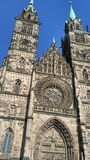Nuremberg Cathedral. Quite impressive, even though there was some work being done on the fassade Stock Photography