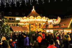 Christmas carousel, Germany  Royalty Free Stock Photography