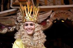 Nuremberg Christkind - symbool van Kerstmismarkt op de historische carrousel Royalty-vrije Stock Afbeeldingen
