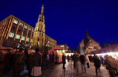 Nuremberg christmas market Royalty Free Stock Images