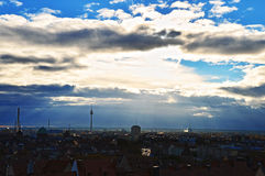 Nuremberg city panoramic view Stock Images