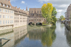 Nuremberg city river, Germany Royalty Free Stock Image