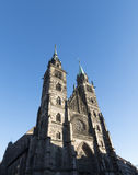 "Nuremberg, Duitsland †""30 December, 2016: St Lorenz kerk exte Royalty-vrije Stock Afbeelding"