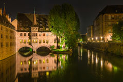 Nuremberg Duitsland, Armenhuis van de Heilige Geest royalty-vrije stock foto