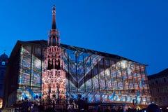 Nuremberg, Duitsland - Matrijs Blaue Nacht 2012 Stock Foto