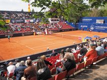 Nuremberg, Germany - May 23, 2019: Centre court at the Euro 250.000 WTA Versicherungscup Tournament during the matchY Putintseva