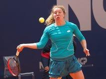 Nuremberg, Duitsland - Mei 23, 2019: De Duitse anna-Helling Friedsam van de tennisspeler bij Euro 250 000 Toernooien van WTA Vers stock afbeelding