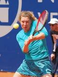 Nuremberg, Duitsland - Mei 23, 2019: De Duitse anna-Helling Friedsam van de tennisspeler bij Euro 250 000 Toernooien van WTA Vers royalty-vrije stock afbeeldingen
