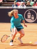 Nuremberg, Duitsland - Mei 23, 2019: De Duitse anna-Helling Friedsam van de tennisspeler bij Euro 250 000 Toernooien van WTA Vers stock foto