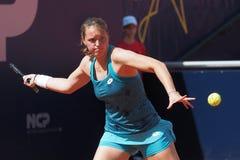 Nuremberg, Germany - May 19, 2019: German tennis player Jule Niemeier at the Euro 250.000 WTA Versicherungscup Tournament second