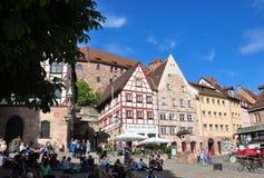 Nuremberg, Duitsland - Mei 20, 2018: Plaats in Tiergaertnertor royalty-vrije stock fotografie
