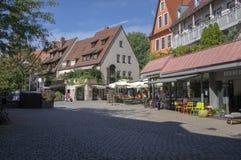 Nuremberg/DUITSLAND - September 17, 2018: Manier om in historisch centrum van Nuremerg te leven verticale mening stock foto