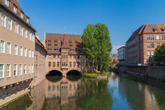 Nuremberg flod Royaltyfri Foto