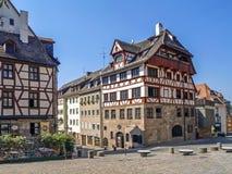 Nuremberg, Franconia, Germany. Albrecht Duerer House in Nuremberg, Middle Franconia, Bavaria, Germany, Europe stock photography