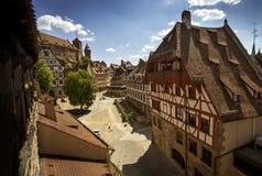 Nuremberg fyrkantcityscape i Nuremberg, Tyskland Arkivbild