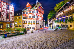 Nuremberg gammalt område Royaltyfri Foto