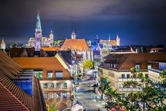 Nuremberg, Germany. Near the main square at night Stock Photos