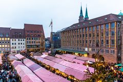 View of the Christkindlesmarkt, Nuremberg Royalty Free Stock Images