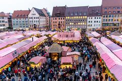 View of the Christkindlesmarkt, Nuremberg Stock Photography