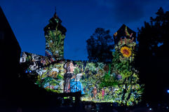 Nuremberg, Germany - Die Blaue Nacht 2012 Royalty Free Stock Photos