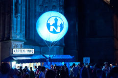 Nuremberg, Germany - Die Blaue Nacht 2012 Stock Photography
