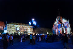 Nuremberg, Germany - Die Blaue Nacht 2012 Royalty Free Stock Images