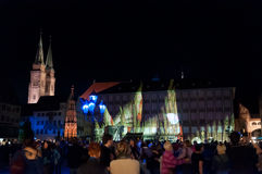 Nuremberg, Germany - Die Blaue Nacht 2012 Stock Photo