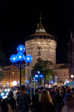 Nuremberg, Germany - Die Blaue Nacht 2012 Royalty Free Stock Image