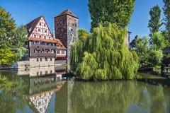 Nuremberg Germany. Executioner's bridge in Nuremberg, Germany Royalty Free Stock Images