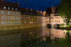 Nuremberg, Germany-Heilig Geist Spital- night scene Royalty Free Stock Photography