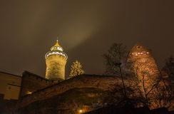 Nuremberg, Germany - Imperial Castle- night scene Royalty Free Stock Images