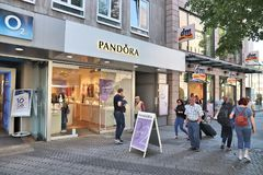 Pandora fashion brand royalty free stock photos