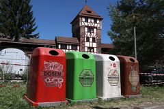 Garbage in Germany stock image
