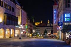 Nuremberg-Germany- night scene- Royal Strasse Stock Photo